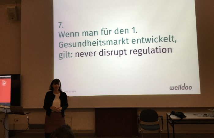 """Never disrupt regulation"" @12min_me #UKE #digitalhealth"