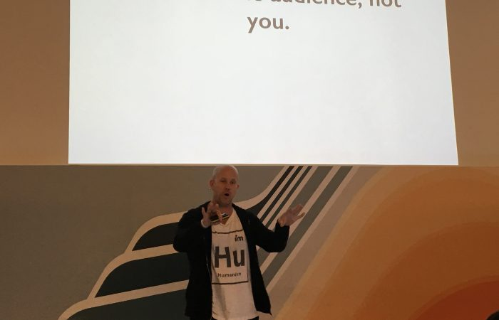"""""""It's about the audience, not you."""" @YouIsNow #VIB16 @steepdecline"""