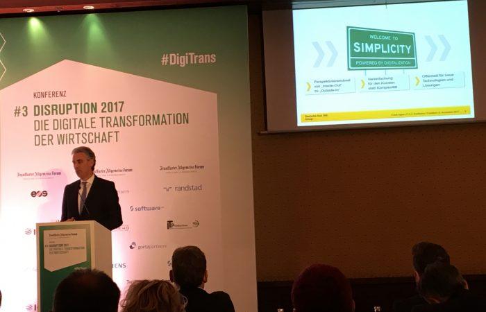 """Frank Appel: """"Digitalisierung ist nicht kompliziert. Alles andere sind Ausreden."""" #DigiTrans #Digitalisierung @faz_forum @DeutschePostDHL"""